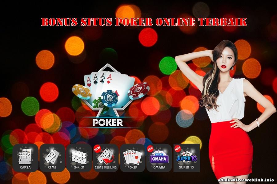 Bonus Situs Poker Online Terbaik